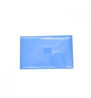 Bolsa Porta Documentos A8 com Fecho Velcro Transp Azul