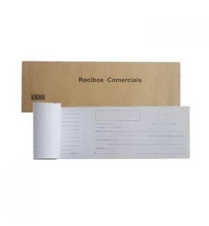 Blocos Impressos-Livro Recibos Comerciais p/Particulares-1un