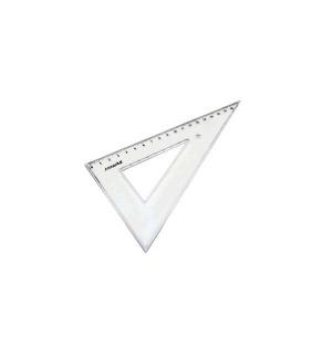 Esquadro Plastico Cristal SmartD 60 - 20cm - 1un