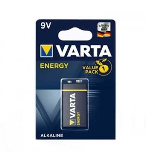 Pilha Alcalina Varta Energy 6LR61 9V 530mAh - 1un