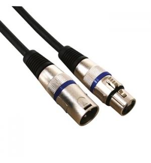 Cabo Audio XLR Macho para XLR Femea 10mts