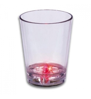 Copo para shots com 1 LED vermelho incorporado