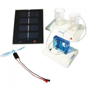 Kit cientifico de conversao de energia solar e hidrogenio