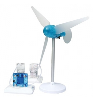 Kit cientifico de conversao de energia eolica e hidrogenio