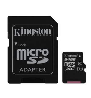 Cartao Memoria 64GB Kingston Canvas Select Micro SDHC