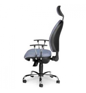 Cadeira Operativa Hera Sincron Base Preta c/Apoio Cabeca