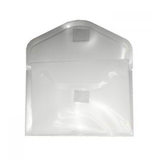 Bolsa Porta Documentos A8 com Fecho Velcro Transparente
