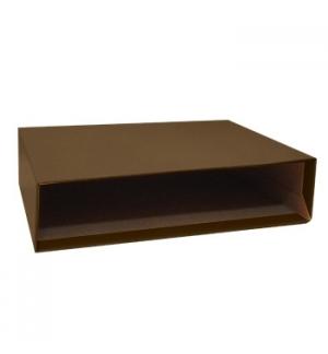 Caixa Cartao Micro p/Pasta Arquivo 200AC 350x290 L80 Castanh