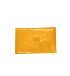 Bolsa Porta Documentos A8 com Fecho Velcro transp Laranja