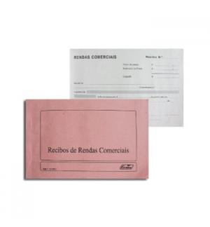 Blocos Impressos-Livro Recibos Rendas Comerciais para Empres
