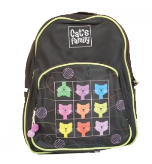 Mochila Escolar EK Cats Family