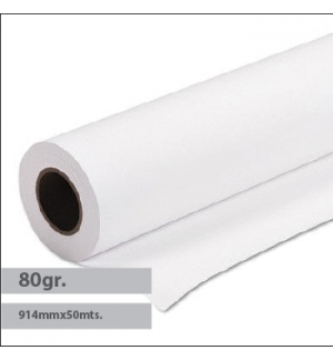 Papel Plotter 78gr 914mmx50mts Evolution Draft Pack 4 Rolos