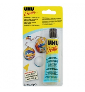 Cola UHU Creativ Esferovite e Folhas de Aluminio 33ml
