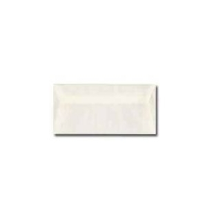 Envelope Papel Natural 95gr 11x22cm Blister 25un Branco