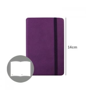 Bloco Notas Liso 14x9cm Semi Pele Roxo 116 Flh (agenda)