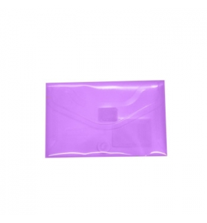 Bolsa Porta Documentos A8 com Fecho Velcro Transp Violeta