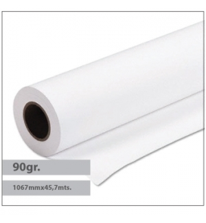 Papel Premium Coated 90gr 1067mmx457mts Evolution -1Rolo