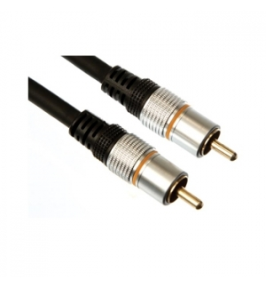 Cabo de audio Profissional 1xRCA macho p/ 1xRCA macho (1,5m)