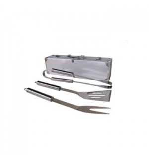Conjunto para Barbecue em caixa de aluminio (3 peas)