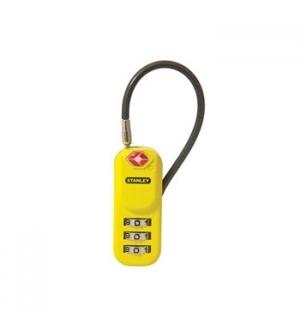 Cadeado c/combinacao 3 digitos Stanley p/bagagem - amarelo