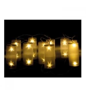 Cilindros holograficos com iluminacao LED