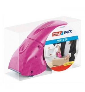 Desenrolador Punho Fita 50mm Tesa Pack N Go - Rosa