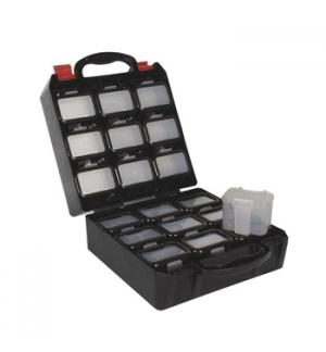 Caixa organizacao c/18 compartimentos c/clip fixacao cinto