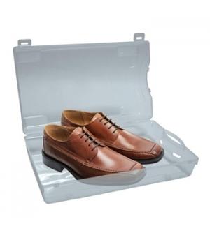 Caixa plastica transparente para sapatos 350x205x130mm