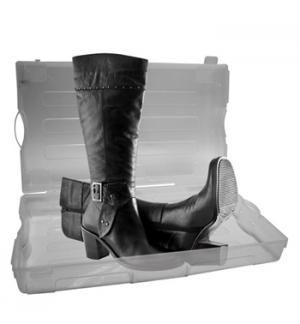 Caixa plastica transparente para sapatos 555x320x130mm