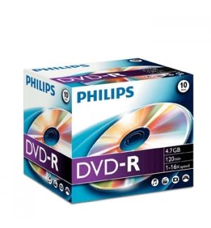 DVD-R Philips 47GB 16X Jewell Case 10
