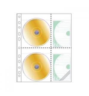 Bolsa para 2 CDs em PP c/Furacao Lateral Roma 393C Pack 20un