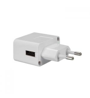 Alimentador compacto 220V conector USB 5V 1 Amp branco