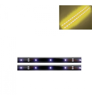 Fita LED auto-adesiva dupla 12VDC amarela c/ boto ON/OFF