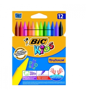 Lapis de Cera Bic Kids Plastidecor 12 Cores