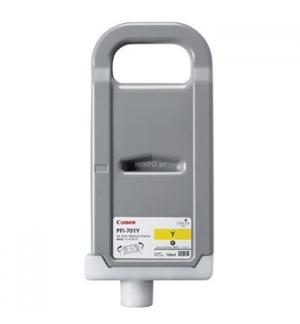 Tinteiro IPF8000/9000 PFI701Y Amarelo Alta Capacidade