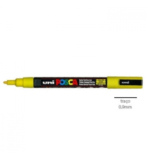 Marcador Uniball Posca PC3M 09mm Amarelo -1un