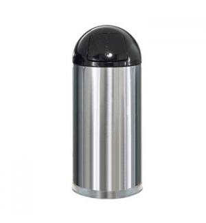 Papeleira Metal EasyPush Aco Inox 55 Litros