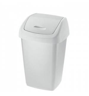 Papeleira Tampa Basculante 50 Litros Branco