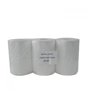 Papel Higienico (Jumbo) 200mts 2Fls BulkySoft 134cm -6un