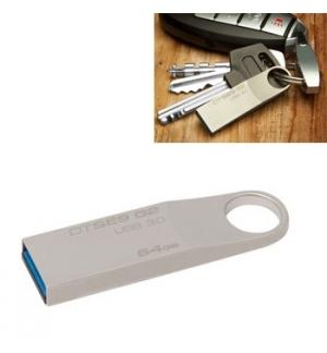 Pen Drive 64GB Kingston DataTraveler SE9 Prata USB 20