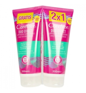 Gel Higiene Íntima CAREFREE Aloe Vera 200ml Pack 2un