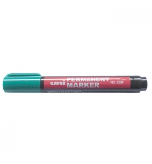 Marcador Permanente UNI 320F Verde 1 unid