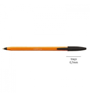 Esferografica Ball Point Fine BIC Orange Preto Cx 20un