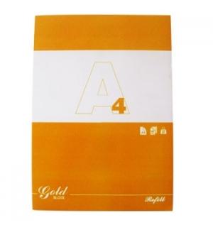 Bloco Recarga Gold A4 Liso 60gr 80 Folhas 4 Furos