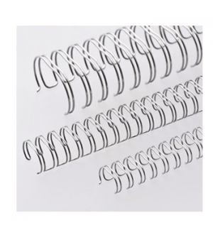 Argolas Metalicas Encadernar Passo 2:1 22,2mm Cx50 Prata