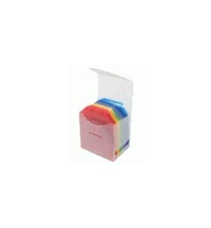 Caixa arquivo para Cd com 50 bolsas cores sortidas
