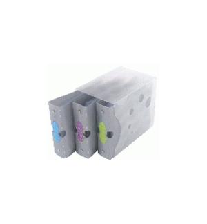 Caixa com 3 Arquivadores para Cds 3x20 60Cds