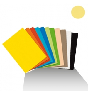 Cartolina 180gr 1 folha 50x65cm Amarelo Canario (4A)