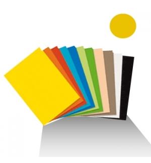 Cartolina 180gr 1 folha 50x65cm Amarelo Ouro