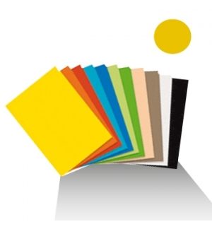 Cartolina 50x65cm180gr 1 folha Amarelo Ouro (4E)